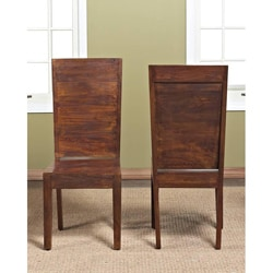 Flat Back Solid Mango Chair (Set of 2)