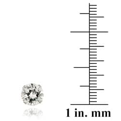 Icz Stonez 14k White Gold 4 1/3ct TGW 7-mm Cubic Zirconia Stud Earrings
