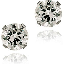 Icz Stonez 14k White Gold 2 7/8ct TGW 6-mm Cubic Zirconia Stud Earrings