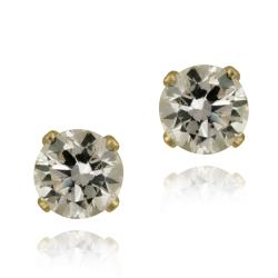 Glitzy Rocks 14k Yellow Gold 2 7/8ct TGW 6-mm Cubic Zirconia Stud Earrings