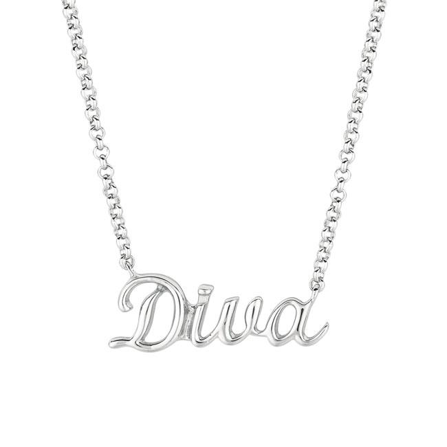 Sterling Silver Expression Diva Necklace