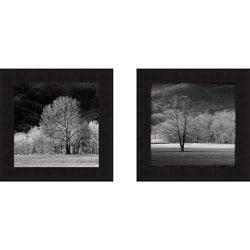 Robert Jones 'Cades Trees I and II' Framed Print