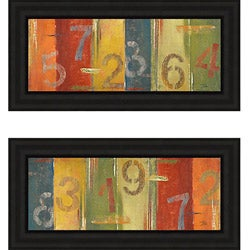 Patricia Pinto 'Lucky Numbers' Framed Print Art