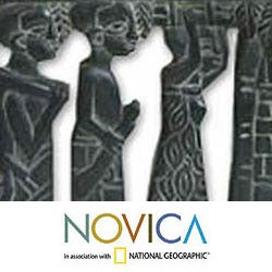 Sese Wood 'African Women' Relief Panel (Ghana)