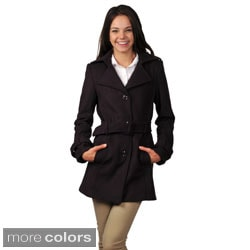Ci Sono by Journee Juniors Belted Long Coat