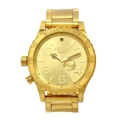 Nixon Men's 51-30 Gold-Tone Watch