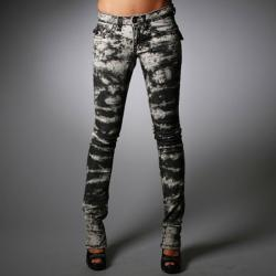 Laguna Beach Jeans Women's Hermosa Beach Black Wash Burn Out Pants