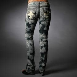 Laguna Beach Jeans Women's Hermosa Beach Dark Blue Burn Out Pants