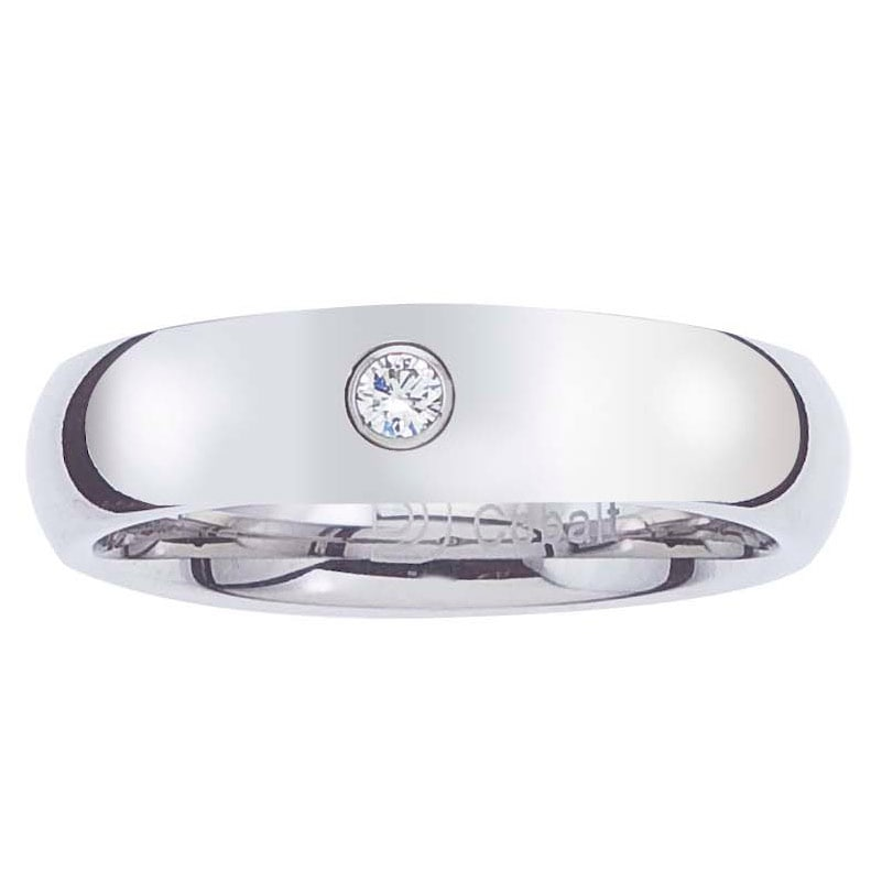 Cobalt Women's Diamond Accent 5-mm Comfort Fit Band