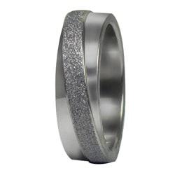 Stainless Steel Diamond-cut Texture Diagonal Band