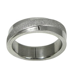 Stainless Steel Diamond-cut Texture Diagonal Band