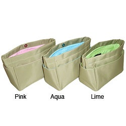 Purzazz Mini Beige Microfiber Organizational Clutch