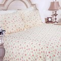 Pink Rose Garden King-size Quilt Set