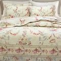 Rose Romance 3-piece Quilt Set and Optional Sham Separates