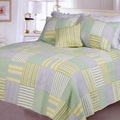 Spa Stripes Patchwork Quilt Set