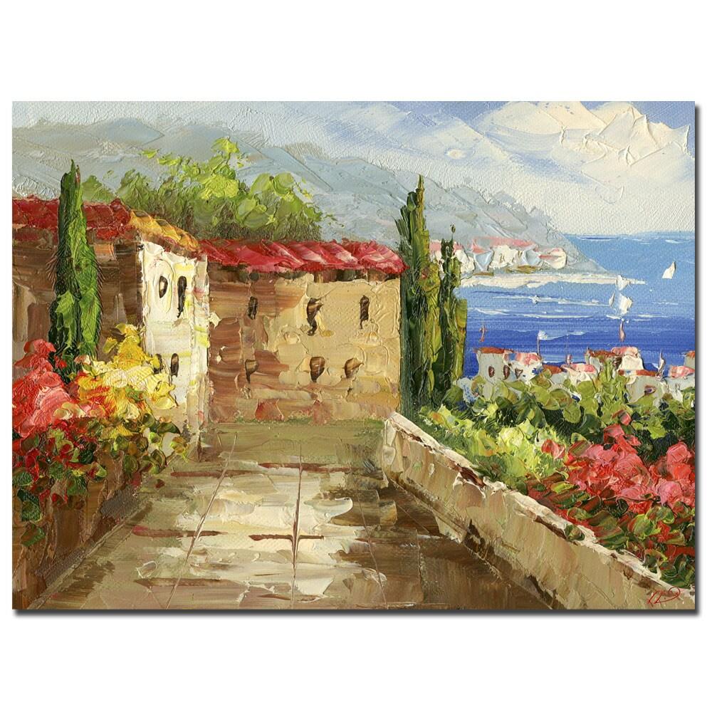 Rio 'Mountain View' Canvas Art