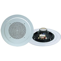 Pyle 8-inch Full Range In-ceiling Speaker with Transformer (Refurbished)