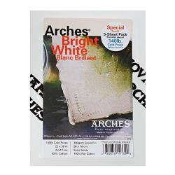 Arches 22-inch x 30-inch Cold Press Watercolor Paper (5 Sheets)