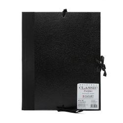 Cachet 9-inch x 12-inch Classic Leatherette Student Portfolio