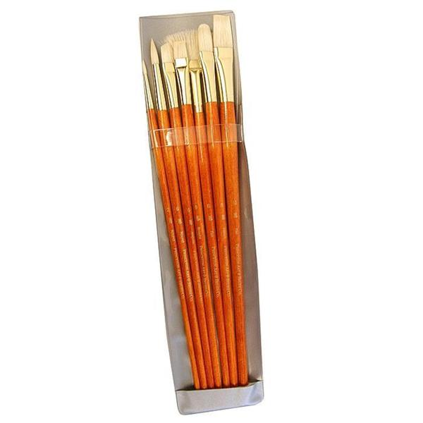 Princeton Long-handled 9154 Orange Real Value Brushes (Set of 7)