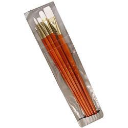 Princeton Long-handled 9155 Orange Real Value Brushes (Set of 5)