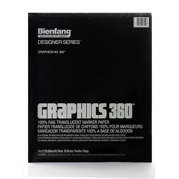 Bienfang 14-inch x 17-inch Graphics 360 Marker Paper (50 Sheets)