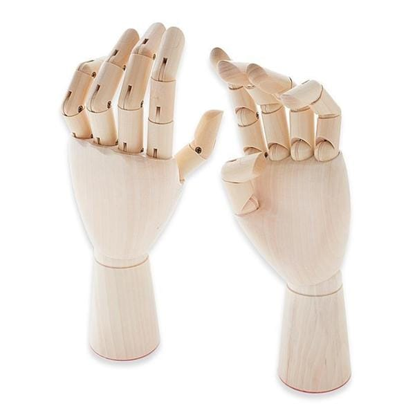 Jack Richeson Left-handed Adult Male Wooden Manikin Hand