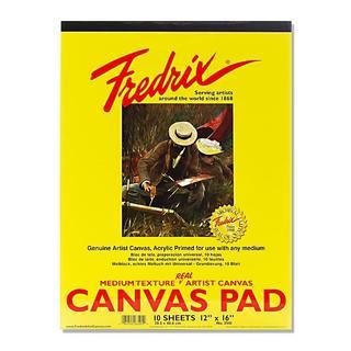 Fredrix 12-inch x 16-inch Canvas Pad