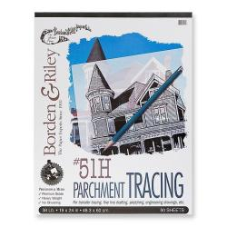 Borden & Riley 19-inch x 24-inch 51H Tracing Paper Pad
