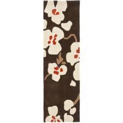 Safavieh Handmade Avant-garde Bliss Brown Rug (2'3 x 8')