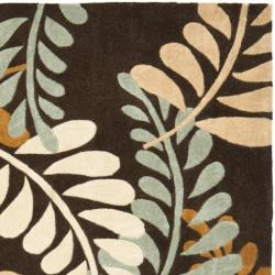 Safavieh Handmade Avant-garde Ferns Brown Rug (7' Square)