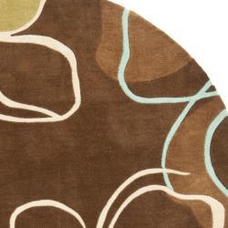 Safavieh Handmade Avant-garde Gardens Brown Rug (7' Round)