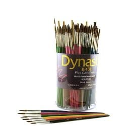 Dynasty Fine Camel Hair B-100 Round Brushes (Canister of 144)