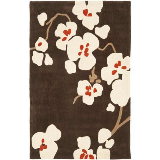 Safavieh Handmade Avant-garde Bliss Brown Rug (8' x 10')