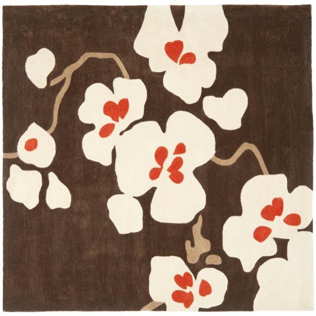 Safavieh Handmade Avant-garde Bliss Brown Rug (7' Square)