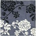 Handmade Avant-garde Shadows Dark Grey Rug (7' Square)