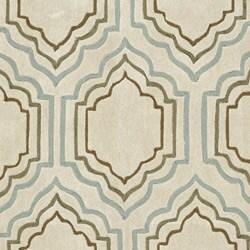 Handmade Avant-garde Morocco BeigeRug (4' x 6')
