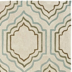 Safavieh Handmade Avant-garde Morocco BeigeRug (5' x 8')