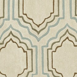 Safavieh Handmade Avant-garde Morocco Beige Rug (7' Round)