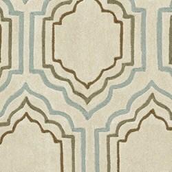 Handmade Avant-garde Morocco Beige Rug (7' Square)