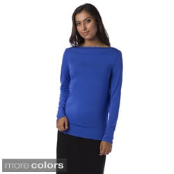 AtoZ Machine-Washable Women's Reversible Cowlneck Top