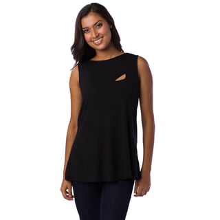AtoZ Women's Mod Cutout Sleeveless Top