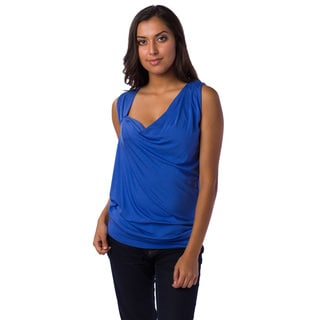 AtoZ Women's Draped Sleeveless Top