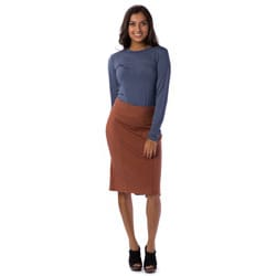 AtoZ Women's Kick-Pleat Pencil Skirt