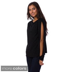 AtoZ Women's Vented Sleeve Top
