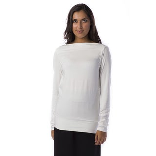 AtoZ Women's Reversible Cowlneck Top