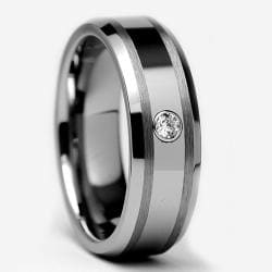 Tungsten Carbide Diamond Accent Ring (7 mm)