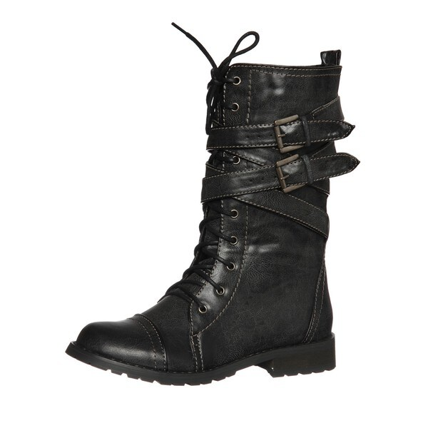 Groove Women's 'Canyon' Grey Belted Boots