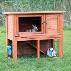 TRIXIE Rabbit Hutch with Sloped Roof (L)
