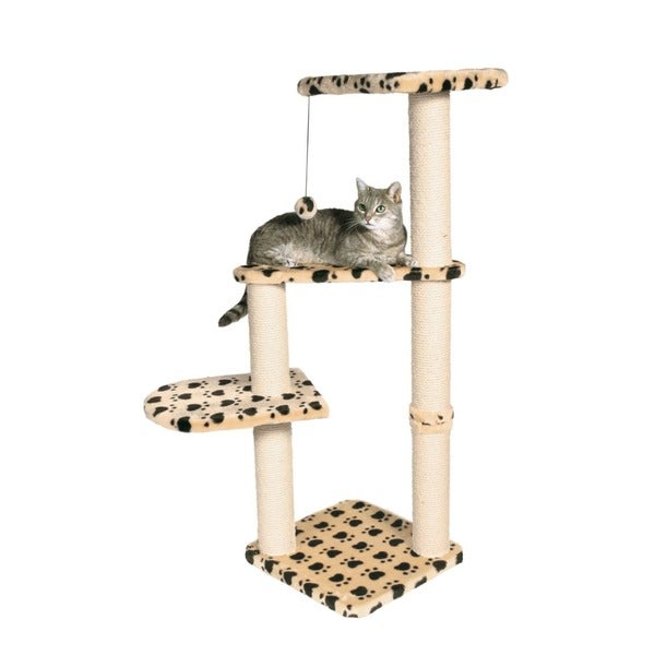 Trixie Altea Beige/ Black Scratching Post